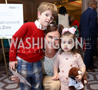 William, Mae, and Rose Grennan. Photo by Tony Powell. 2018 Wacky and Whimsical Tea for THEARC. Ritz. March 11, 2018