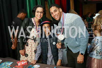 Dr. Marceé White, Jayden White and David White. Photo by Tony Powell. 2018 Wacky and Whimsical Tea for THEARC. Ritz. March 11, 2018