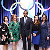 Co-chairs Katherine Lucas and Jill White, THEARC Exec. Dir. Rahsaan Bernard, Co-chairs Elizabeth Engel and Nancy Cordes. Photo by Tony Powell. 2018 Wacky and Whimsical Tea for THEARC. Ritz. March 11, 2018