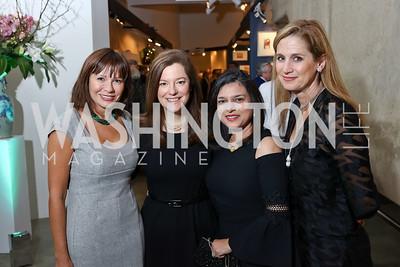 Natalia Monteiro, Christina Gungoll Lepore, Christine Terrell, Lesley Duncan. Photo by Tony Powell. 2018 Washington Winter Show. Katzen Center. January 11, 2018