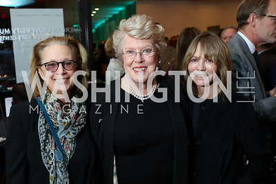 Carol Joynt, Ellen Charles, Myra Moffett. Photo by Tony Powell. 2018 Washington Winter Show. Katzen Center. January 11, 2018