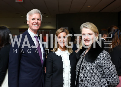Fred Ryan, Cathy Busch, Genevieve Ryan. Photo by Tony Powell. 2018 Washington Winter Show. Katzen Center. January 11, 2018