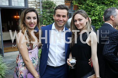 Ludovica Maninelli, Antonio Alves, Christina McDowell. Photo by Tony Powell. 2018 Welcome Summer Party. Villa Firenze. June 19, 2018