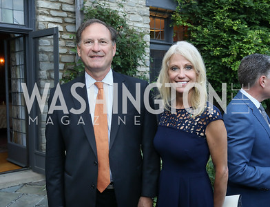 Justice Samuel Alito, Kellyanne Conway. Photo by Tony Powell. 2018 Welcome Summer Party. Villa Firenze. June 19, 2018