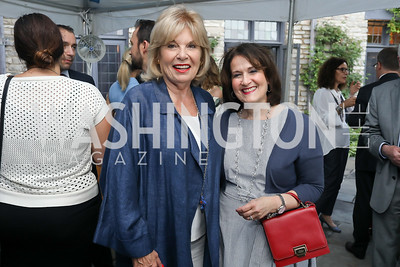 Patricia Harrison, Anita McBride. Photo by Tony Powell. 2018 Welcome Summer Party. Villa Firenze. June 19, 2018