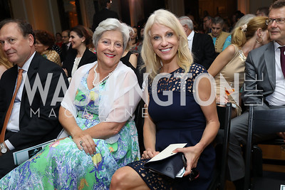 Martha Ann Alito, Kellyanne Conway. Photo by Tony Powell. 2018 Welcome Summer Party. Villa Firenze. June 19, 2018