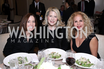 Sara Beiro Farabow, Linda Courie, Hiba Hakki. Photo by Tony Powell. 2018 Wendt Center for Loss and Healing Gala. Four Seasons. November 15, 2018