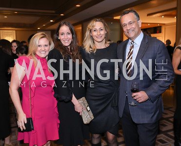 Sassy Jacobs, Autumn Allen, Dr. Caroline Van Vleck and Michael Van Vleck. Photo by Tony Powell. 2018 Wendt Center for Loss and Healing Gala. Four Seasons. November 15, 2018