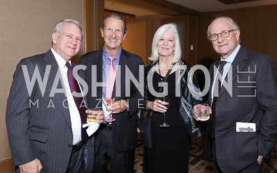 Peter Segal, Dick Belanger, Candice Evans, Steven Pearlstein. Photo by Tony Powell. 2018 Wendt Center for Loss and Healing Gala. Four Seasons. November 15, 2018