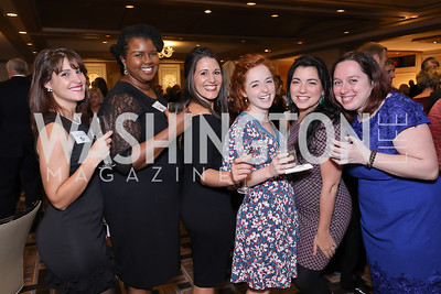 Alba Prados, Elizabeth Johnson, Megan Seymour, Emily Prusator, Ana Ponce, Kristine Franklin. Photo by Tony Powell. 2018 Wendt Center for Loss and Healing Gala. Four Seasons. November 15, 2018