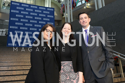 Allyson Browne McKithen, Trisha Taylor, Andrew Gelfuso. Photo by Tony Powell. 2018 Winternational. Reagan Building, December 6, 2018