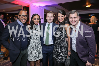 Jonathan Capehart, Francesca, Nick Schmit, Courtney O'Donnell, Michael Moroney. Photo by Tony Powell. 2018 Women Rule Summit. Four Seasons. December 10, 2018