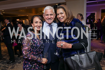Elena Allbritton, Patrick Steel, Ann Walker Marchant. Photo by Tony Powell. 2018 Women Rule Summit. Four Seasons. December 10, 2018