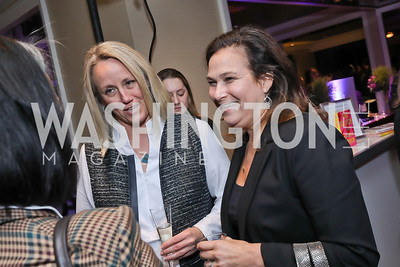 Emily's List President Stephanie Schriock, Ilyse Hogue. Photo by Tony Powell. 2018 Women Rule Summit. Four Seasons. December 10, 2018