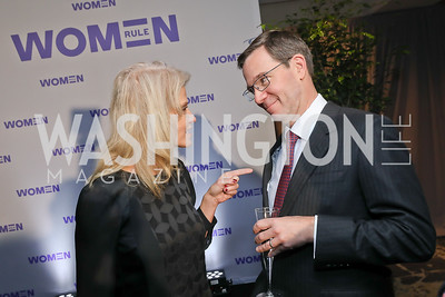 Kellyanne Conway, Robert Allbritton. Photo by Tony Powell. 2018 Women Rule Summit. Four Seasons. December 10, 2018