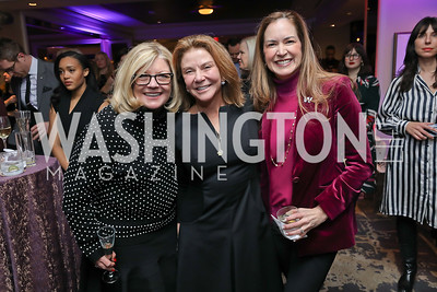 Gloria Dittus, Susan Molinari, Lee Satterfield. Photo by Tony Powell. 2018 Women Rule Summit. Four Seasons. December 10, 2018