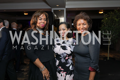 Karen Maria Alston, Rasheedah Thomas, Dede Lea. Photo by Tony Powell. 2018 Women Rule Summit. Four Seasons. December 10, 2018