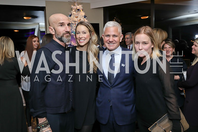 Stephen Kay, Hannah Linkenhoker, Patrick Steel, Piper Perabo. Photo by Tony Powell. 2018 Women Rule Summit. Four Seasons. December 10, 2018