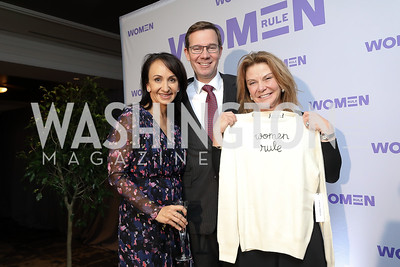 Elena and Robert Allbritton, Susan Molinari. Photo by Tony Powell. 2018 Women Rule Summit. Four Seasons. December 10, 2018