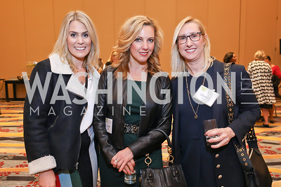 Catie McCrossan, Susan Dyes, Christa Cole. Photo by Tony Powell. 2018 Women's Foundation Luncheon. October 30, 2018