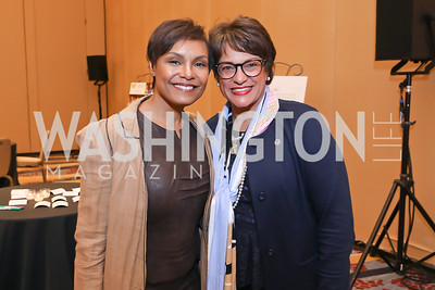 Tisha Hyter, Debbi Jarvis. Photo by Tony Powell. 2018 Women's Foundation Luncheon. October 30, 2018