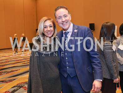 Kathy Hollinger, Michael Akin. Photo by Tony Powell. 2018 Women's Foundation Luncheon. October 30, 2018
