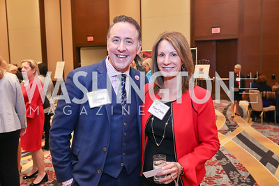 Michael Akin, Mary-Claire Burick. Photo by Tony Powell. 2018 Women's Foundation Luncheon. October 30, 2018