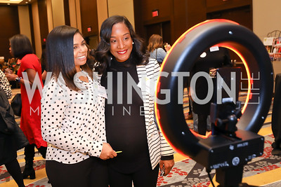 Megan Hayes, Sheena Carter. Photo by Tony Powell. 2018 Women's Foundation Luncheon. October 30, 2018