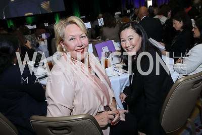 Marsha Muawwad, Ginger Dietrich. Photo by Tony Powell. 2018 Women's Foundation Luncheon. October 30, 2018