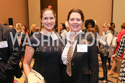 Hilary Eldridge, Anne De Santis. Photo by Tony Powell. 2018 Women's Foundation Luncheon. October 30, 2018