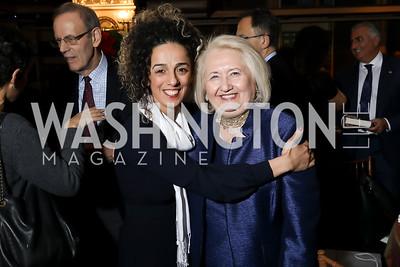Masih Alinejad, Melanne Verveer. Photo by Tony Powell. 2018 Women's Rights in Iran Dinner. GWU. December 5, 2018