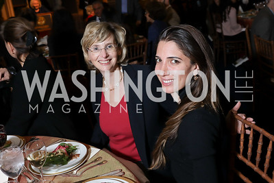 Catherine Fluniani, Suzanne Kianpour. Photo by Tony Powell. 2018 Women's Rights in Iran Dinner. GWU. December 5, 2018