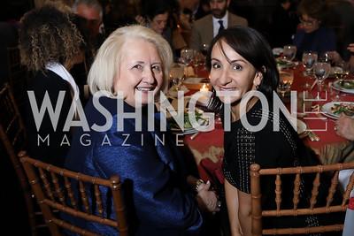 Melanne Verveer, Elena Allbritton. Photo by Tony Powell. 2018 Women's Rights in Iran Dinner. GWU. December 5, 2018