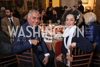Reza Pahlavi, Masih Alinejad. Photo by Tony Powell. 2018 Women's Rights in Iran Dinner. GWU. December 5, 2018