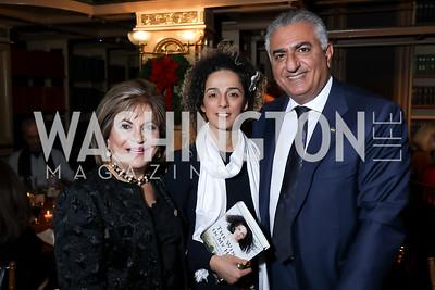 Annie Totah, Masih Alinejad, Reza Pahlavi. Photo by Tony Powell. 2018 Women's Rights in Iran Dinner. GWU. December 5, 2018