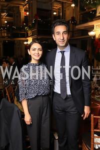 Nazanin Boniadi, Karim Sadjadpour. Photo by Tony Powell. 2018 Women's Rights in Iran Dinner. GWU. December 5, 2018