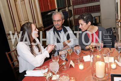 Allie Smith, Bijan Naderi, Ladan Boroumand. Photo by Tony Powell. 2018 Women's Rights in Iran Dinner. GWU. December 5, 2018