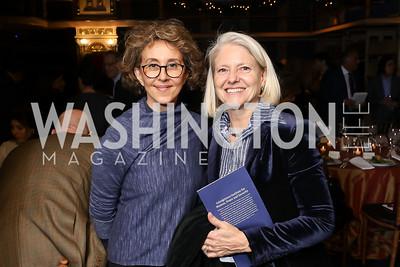 Nazenin Ansari, Elle Carberry. Photo by Tony Powell. 2018 Women's Rights in Iran Dinner. GWU. December 5, 2018