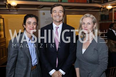 Sheherazade Semsar, Alberto Beeck, Mary Louise Kelly. Photo by Tony Powell. 2018 Women's Rights in Iran Dinner. GWU. December 5, 2018