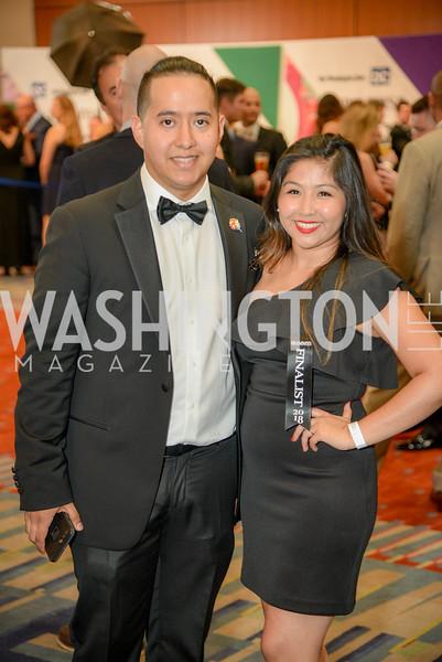 Carlos Delgado, Claudia Meneses,  The 36th Annual RAMMY Awards, Washington Convention Center, June 10th, 2018.  Photo by Ben Droz.