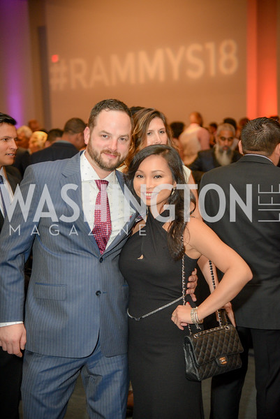 Greg Lloyd, Jeanna Lo,  The 36th Annual RAMMY Awards, Washington Convention Center, June 10th, 2018.  Photo by Ben Droz.