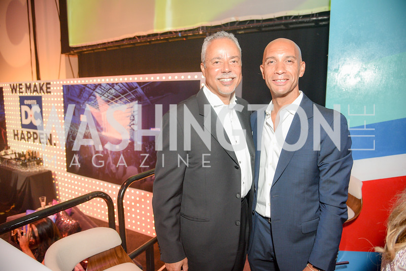 William Jarvis, Adrian Fenty,  The 36th Annual RAMMY Awards, Washington Convention Center, June 10th, 2018.  Photo by Ben Droz.
