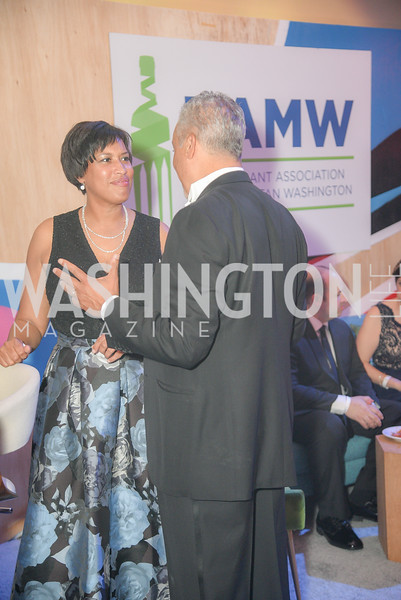 Mayor Muriel Bowser,  The 36th Annual RAMMY Awards, Washington Convention Center, June 10th, 2018.  Photo by Ben Droz.