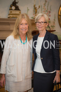 Catherine Stephens, Ambassador Kirsti Kauppi,  50th Annual Meridian Ball Leadership Committee Reception at the Blair House, co-hosted with Ambassador Sean P. Lawler.  September 13, 2018, Photo by Ben Droz.