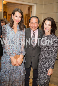 Natalie Jones, Larry La, Tracey Bernstein, 50th Annual Meridian Ball Leadership Committee Reception at the Blair House, co-hosted with Ambassador Sean P. Lawler.  September 13, 2018, Photo by Ben Droz.