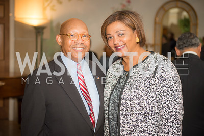 Alphonso Jackson, Marcia Jackson, 50th Annual Meridian Ball Leadership Committee Reception at the Blair House, co-hosted with Ambassador Sean P. Lawler.  September 13, 2018, Photo by Ben Droz.