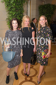 Tracy Bernstein, Jayne Visser, Jessica Miller, 50th Annual Meridian Ball Leadership Committee Reception at the Blair House, co-hosted with Ambassador Sean P. Lawler.  September 13, 2018, Photo by Ben Droz.