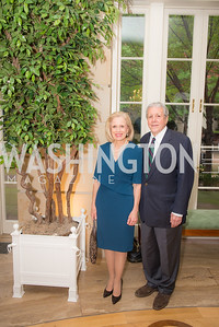 Betty Ann Tanner, John Tanner,  50th Annual Meridian Ball Leadership Committee Reception at the Blair House, co-hosted with Ambassador Sean P. Lawler.  September 13, 2018, Photo by Ben Droz.