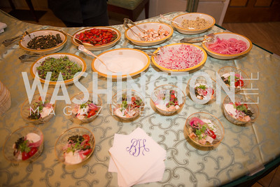 Vegan Food Station, 50th Annual Meridian Ball Leadership Committee Reception at the Blair House, co-hosted with Ambassador Sean P. Lawler.  September 13, 2018, Photo by Ben Droz.
