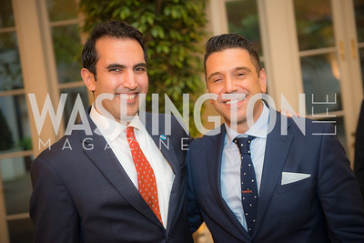 Puru Trivedi, Gerry Diaz Bartolome,  50th Annual Meridian Ball Leadership Committee Reception at the Blair House, co-hosted with Ambassador Sean P. Lawler.  September 13, 2018, Photo by Ben Droz.